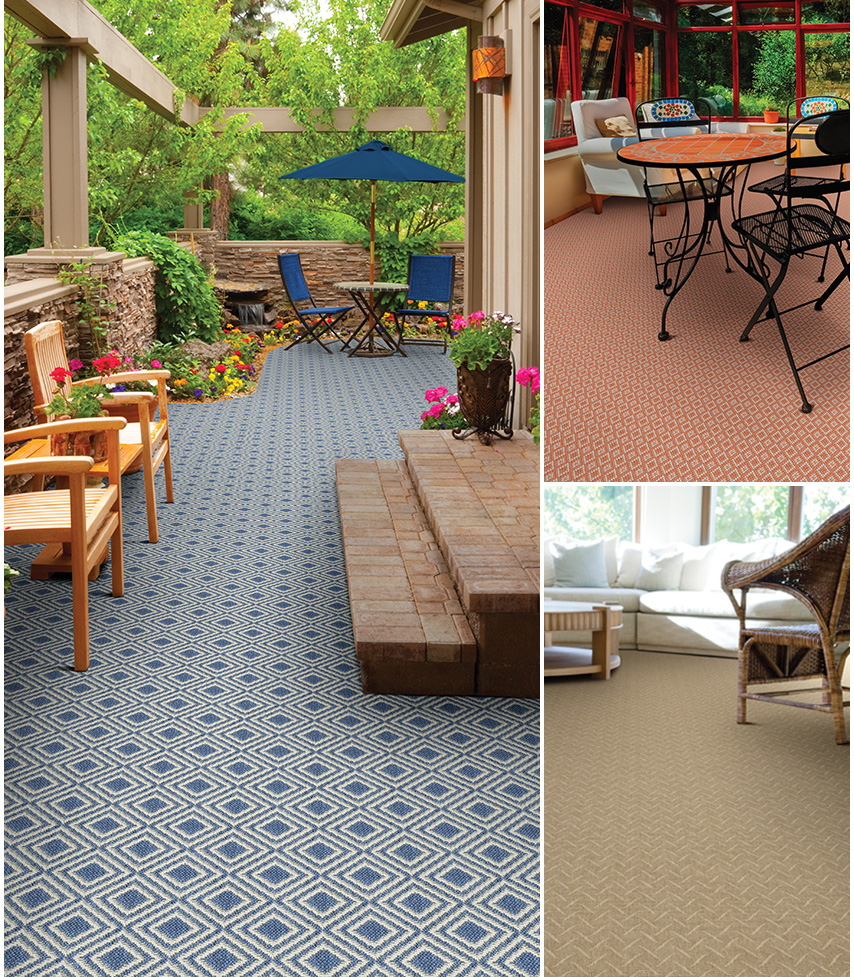Outdoor living couristan for Best indoor outdoor carpet