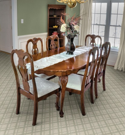 carpet choices for your dining room - Carpeted Dining Room
